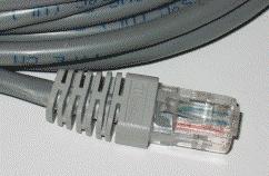 از چپ به راست اترنت روی جفت سیم پیچ خورده و کانکتور8P8C RJ45